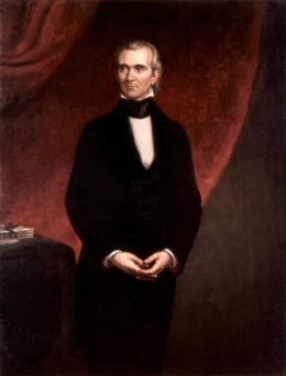 James K. Polk Official Portrait - The Periodic Table of the Presidents