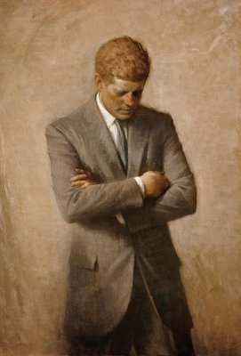 John F. Kennedy Official Portrait - The Periodic Table of the Presidents