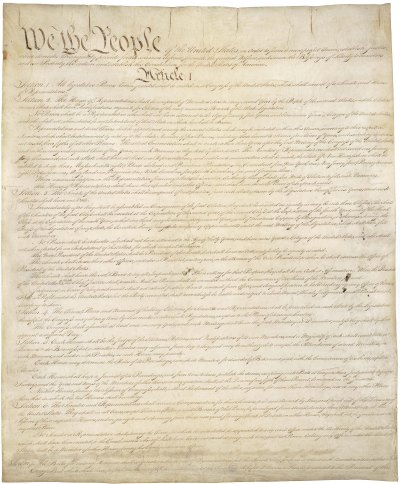 U.S. Constitution page 1 - National Archives