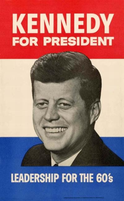 35 Jfk, Kennedy for President, Leadership for the 60's, poster, 1960