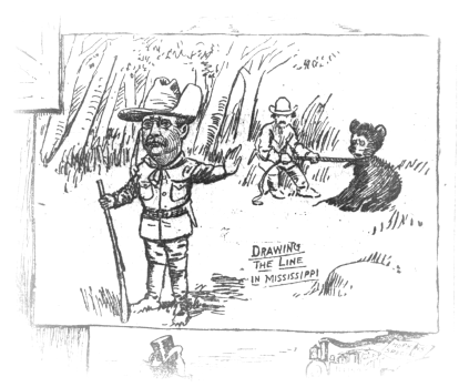 Drawing the Line in Mississippi by Clifford Berryman (1902) LOC
