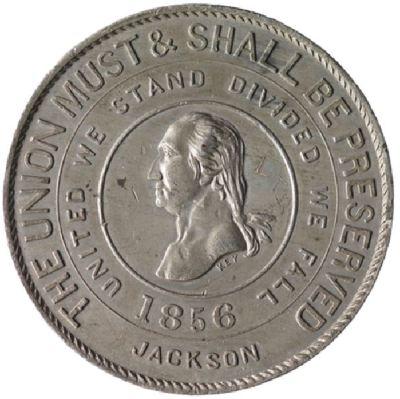James Buchanan - 1856 Campaign Rebus Medalet Back - Virginia Historical Society