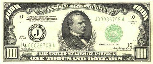 Buy Authentic 1000 Dollar Bills: Federal Reserve ... - APMEX