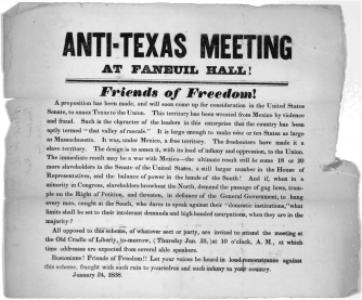Anti-Texas Meeting at Faneuil Hall