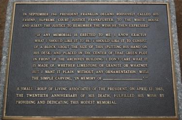 Original FDR memorial plaque