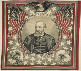 Benjamin Harrison Campaign Bandana